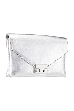 Loeffler Randall Silver Jr Lock Clutch - Product List Image