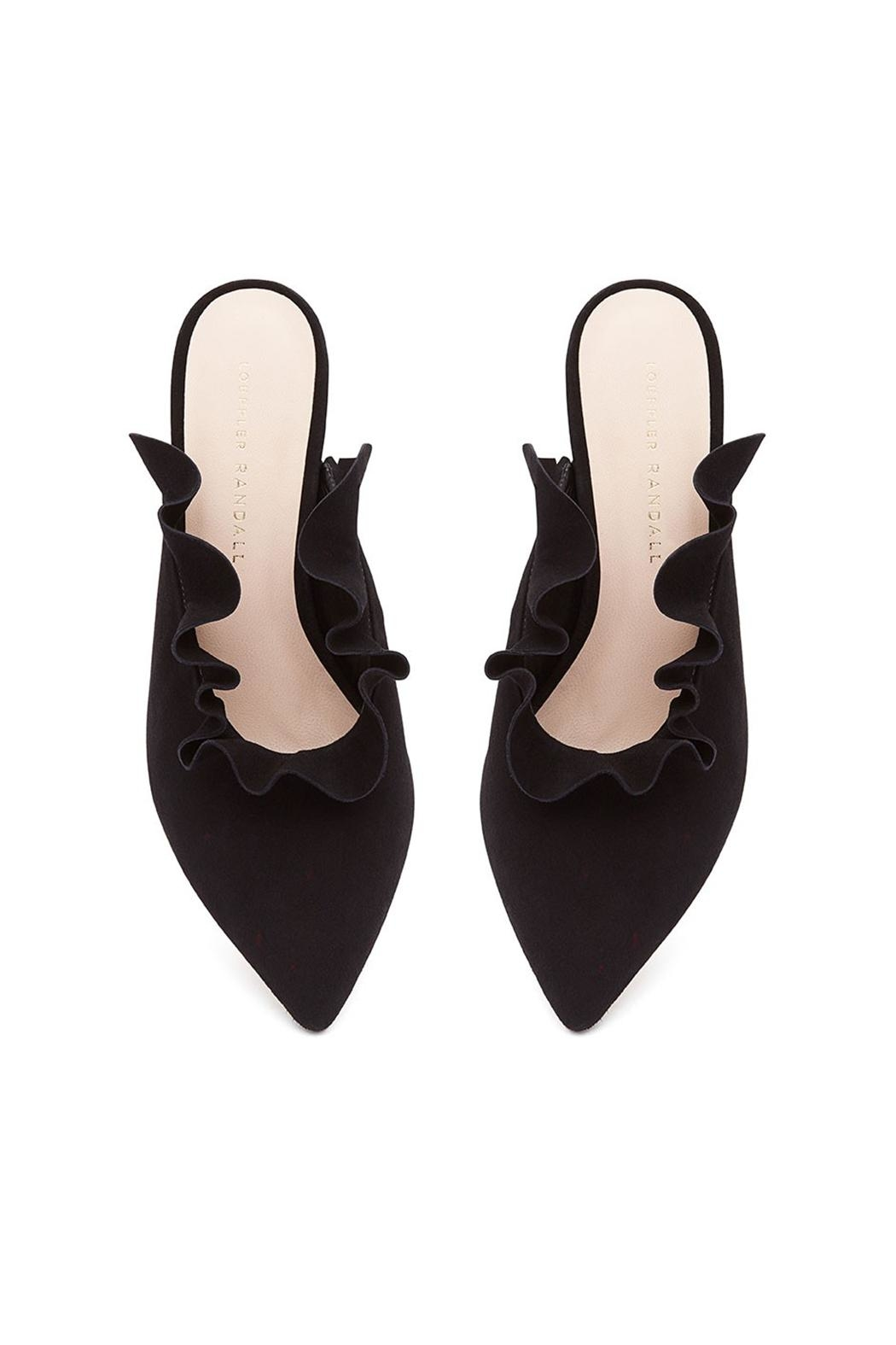 Loeffler Randall Langley Suede Mules - Front Full Image
