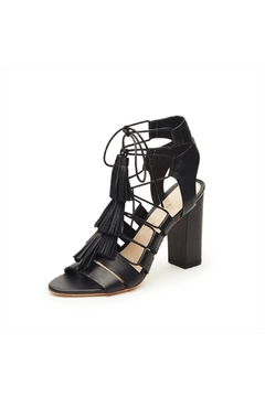 Shoptiques Product: Black Leather Heeled Sandals