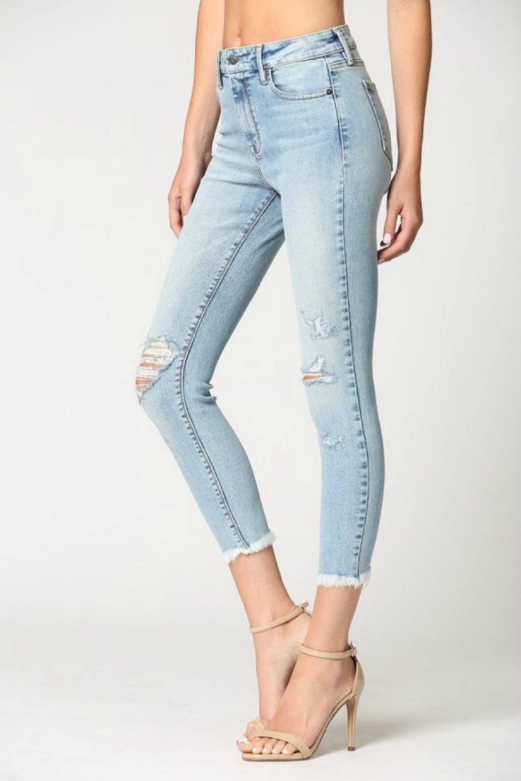Hidden Jeans Logan Hi Rise Dad Jean w Wrapped Waistband - Front Full Image
