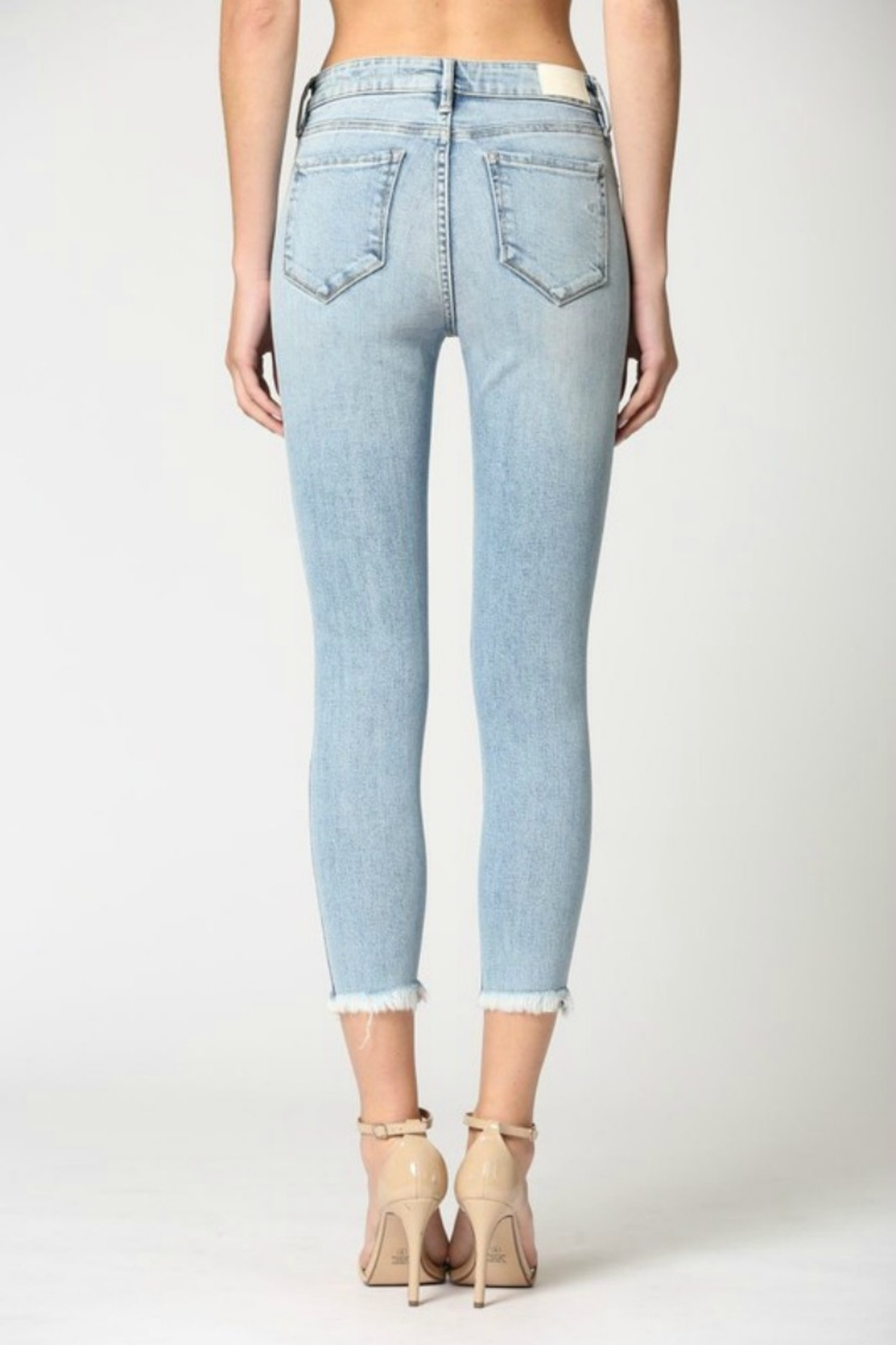 Hidden Jeans Logan Hi Rise Dad Jean w Wrapped Waistband - Back Cropped Image