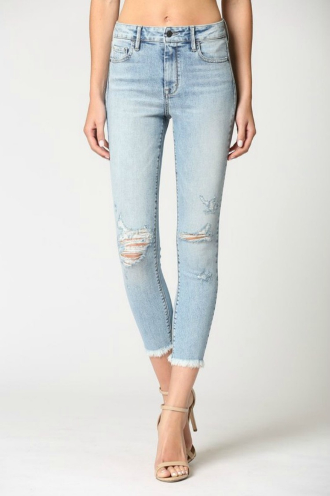 Hidden Jeans Logan Hi Rise Dad Jean w Wrapped Waistband - Front Cropped Image