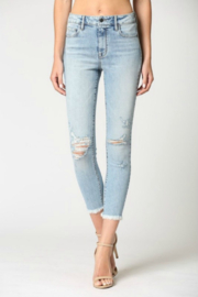 Hidden Jeans Logan Hi Rise Dad Jean w Wrapped Waistband - Front cropped
