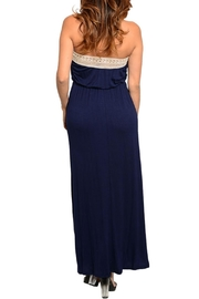 Loila Navy Maxi Dress - Front full body