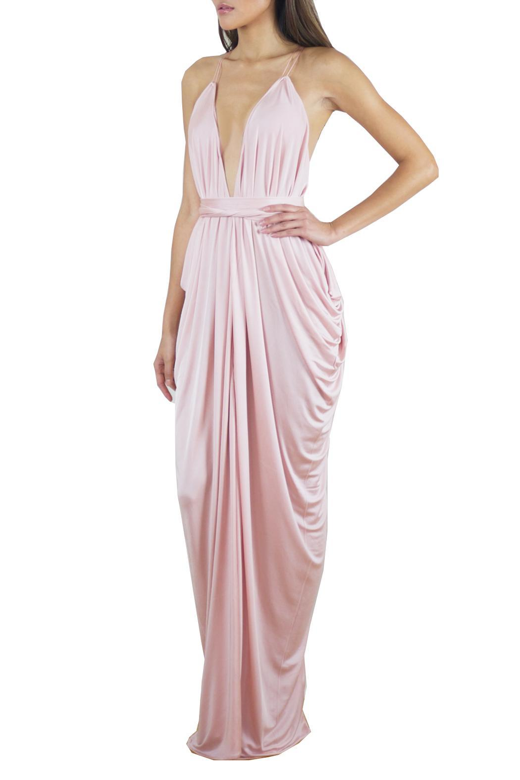 Lois London Blush Bridesmaids Dress - Front Full Image