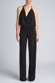 Julian Chang Lola Drape Front Halter Jumpsuit - Product Mini Image