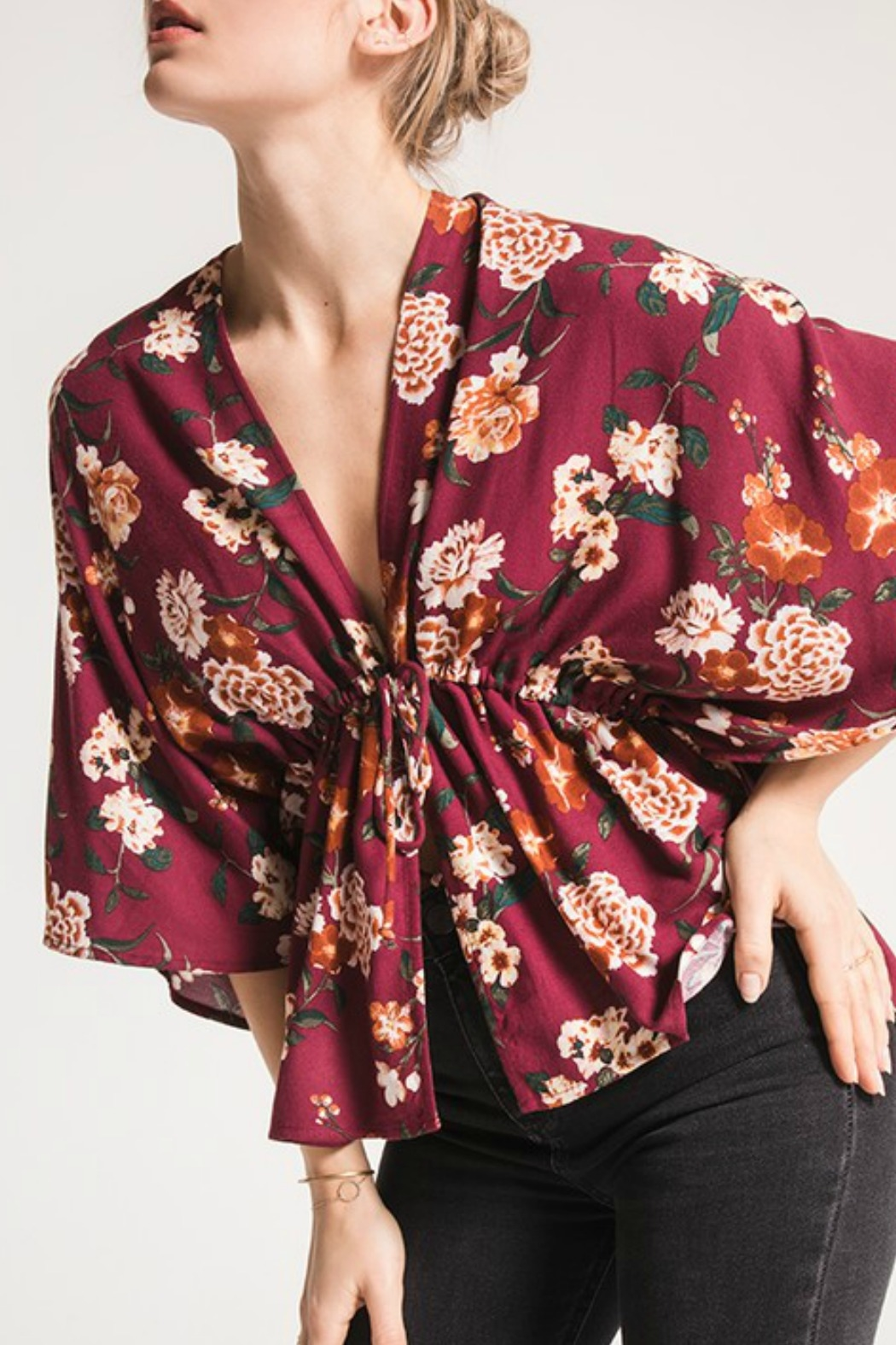 Others Follow  Lola Floral Top - Front Cropped Image