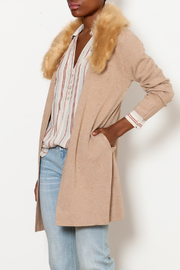 LOLA Fur Trim Cardigan - Product Mini Image