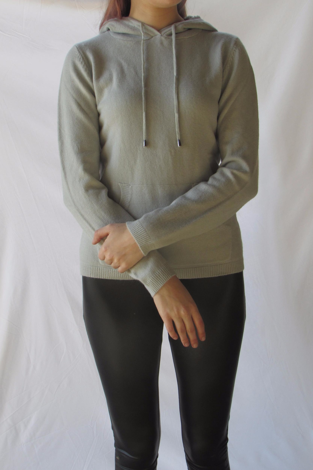 LOLA Grey Pullover Sweater - Front Full Image