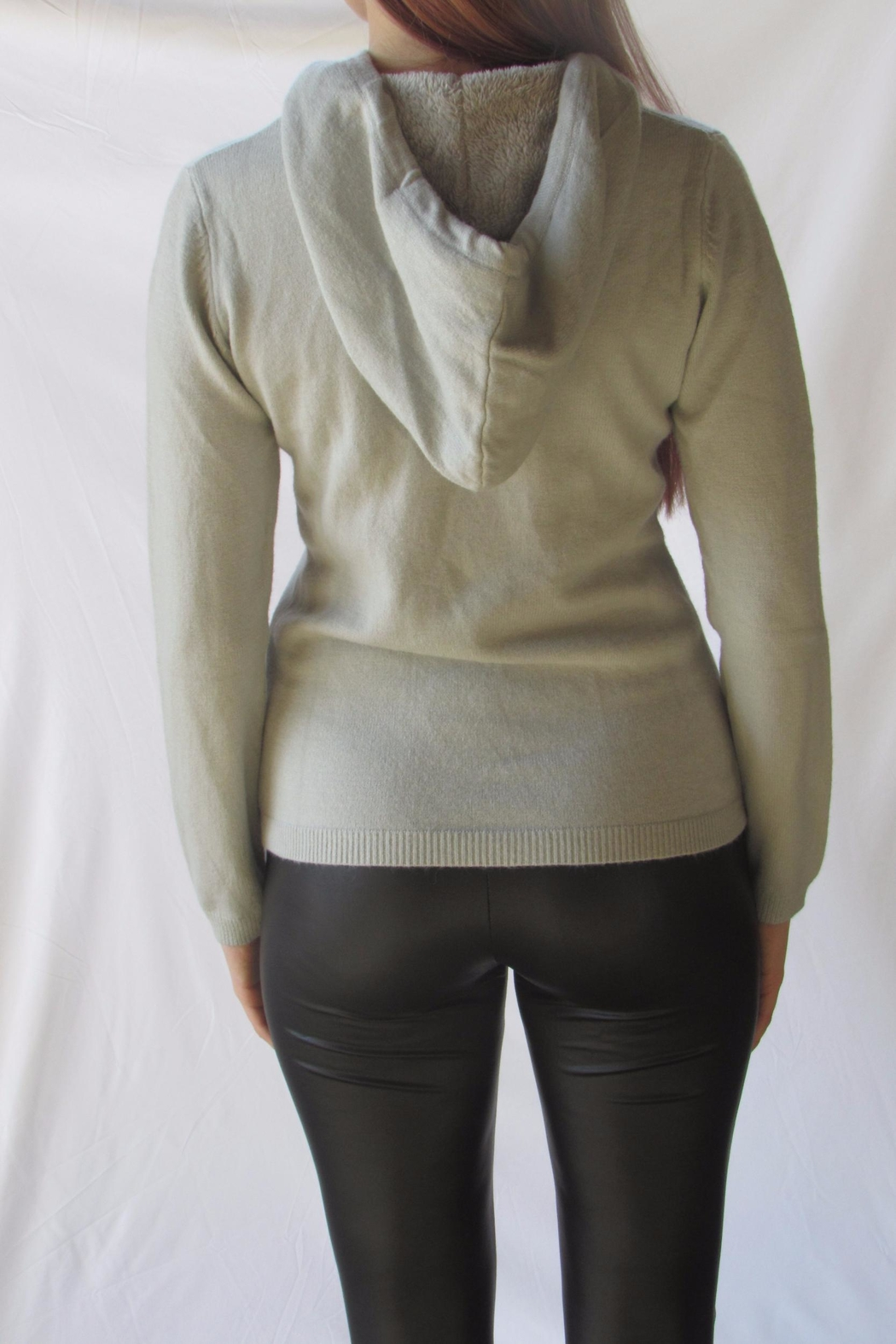 LOLA Grey Pullover Sweater - Side Cropped Image