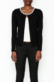 Lola Pearl Trim Cardigan - Front full body