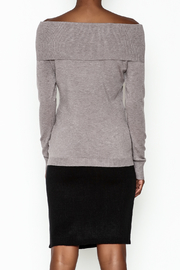 Lola Pin Detail Shoulder Sweater - Back cropped