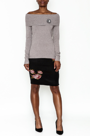 Lola Pin Detail Shoulder Sweater - Side cropped