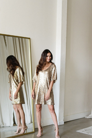 Gentle Fawn Lola Sequin Shift Dress - Product Mini Image