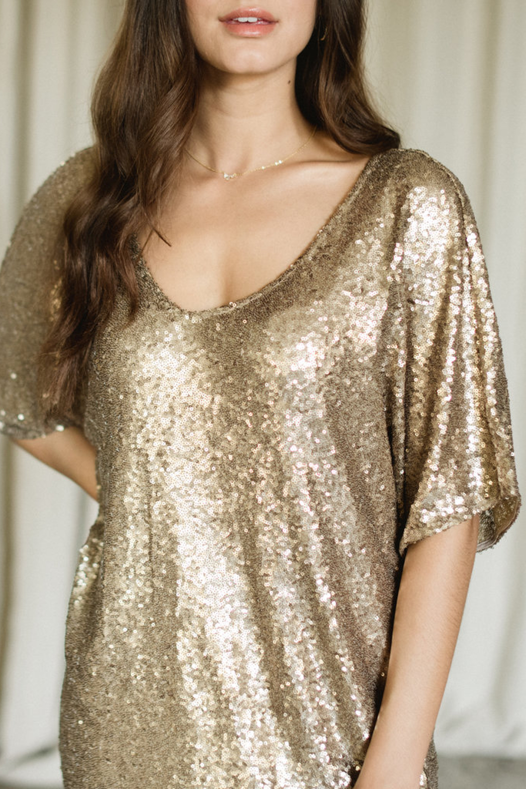 Gentle Fawn Lola Sequin Shift Dress - Front Full Image