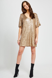 Gentle Fawn Lola Sequin Shift Dress - Back cropped