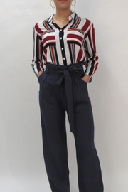 Lola Stripe Collared Blouse - Product Mini Image