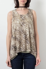 Lola & Sophie Camo Burnout Tank Top - Product Mini Image