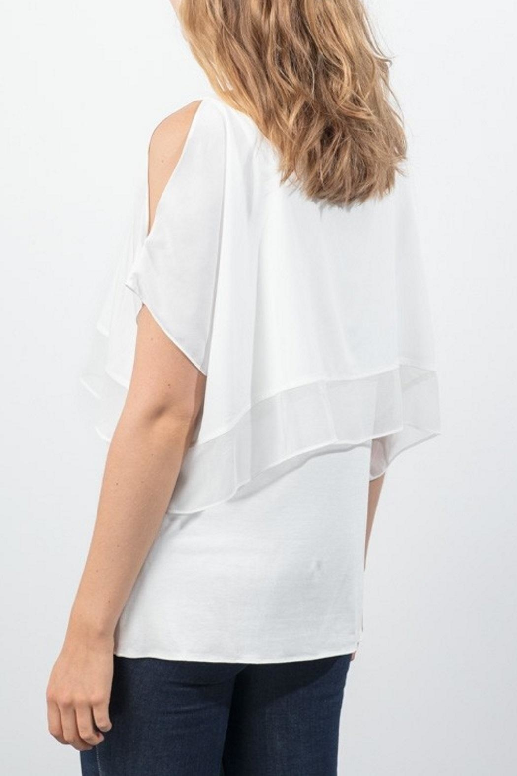 Lola & Sophie Chiffon Capelet Top - Front Full Image
