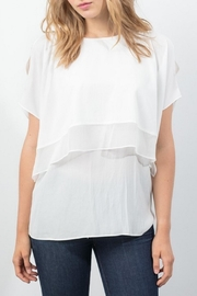 Lola & Sophie Chiffon Capelet Top - Product Mini Image