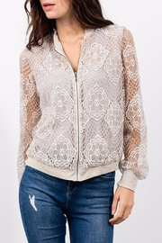 Lola & Sophie Lace Bomber - Front cropped