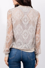 Lola & Sophie Lace Bomber - Front full body