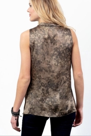 Lola & Sophie Silk Camo Cowl Neck - Front full body