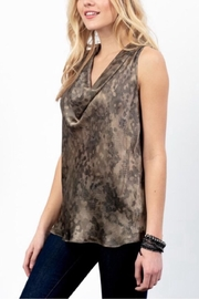 Lola & Sophie Silk Camo Cowl Neck - Product Mini Image