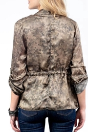 Lola & Sophie Silk Camo Jacket - Front full body