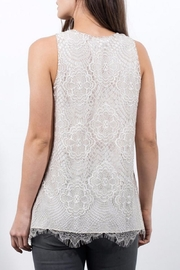 Lola & Sophie Sleeveless Lace Top - Front full body