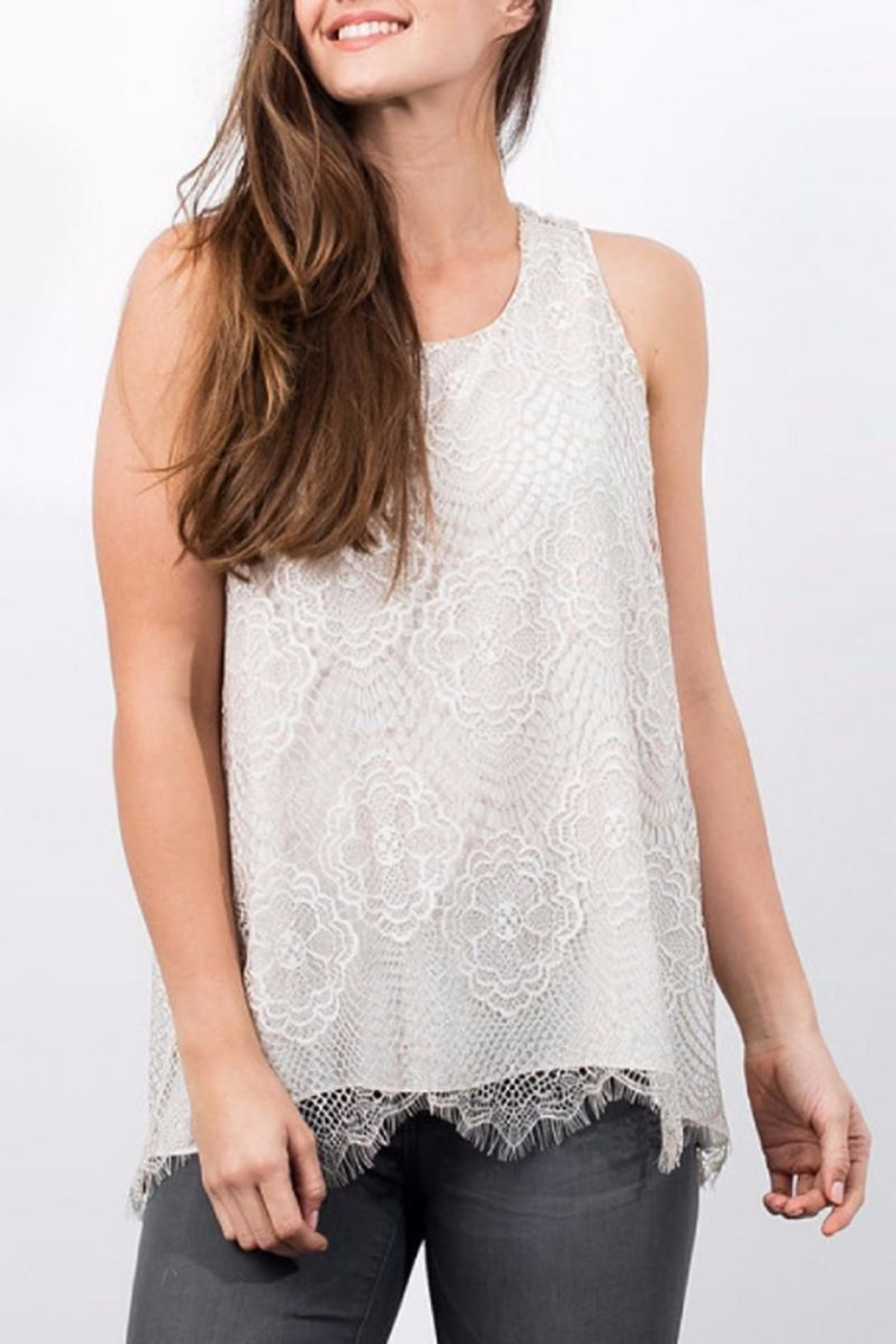 Lola & Sophie Sleeveless Lace Top - Main Image