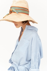 LOLA HATS Striped First Aid Cabana - Side cropped