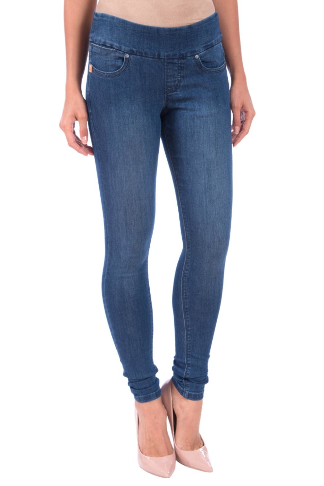 Lola Jeans Anna Pull On  Jeans - Front Cropped Image