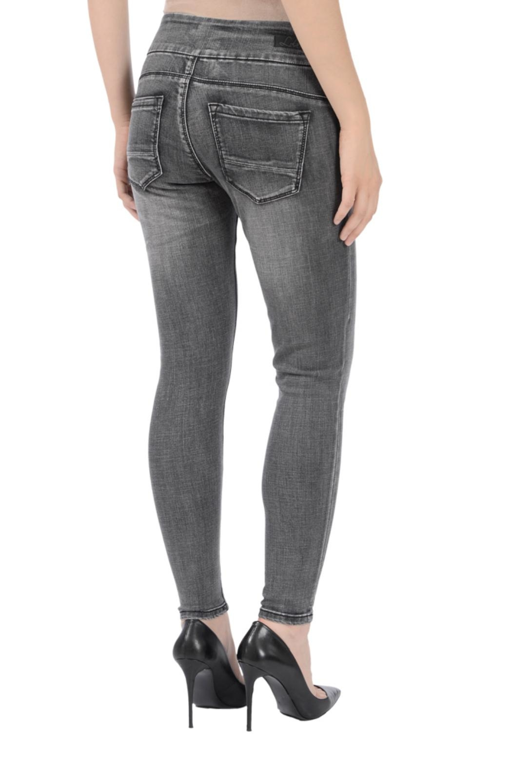 Lola Jeans Julia Pull-On Jeans - Side Cropped Image