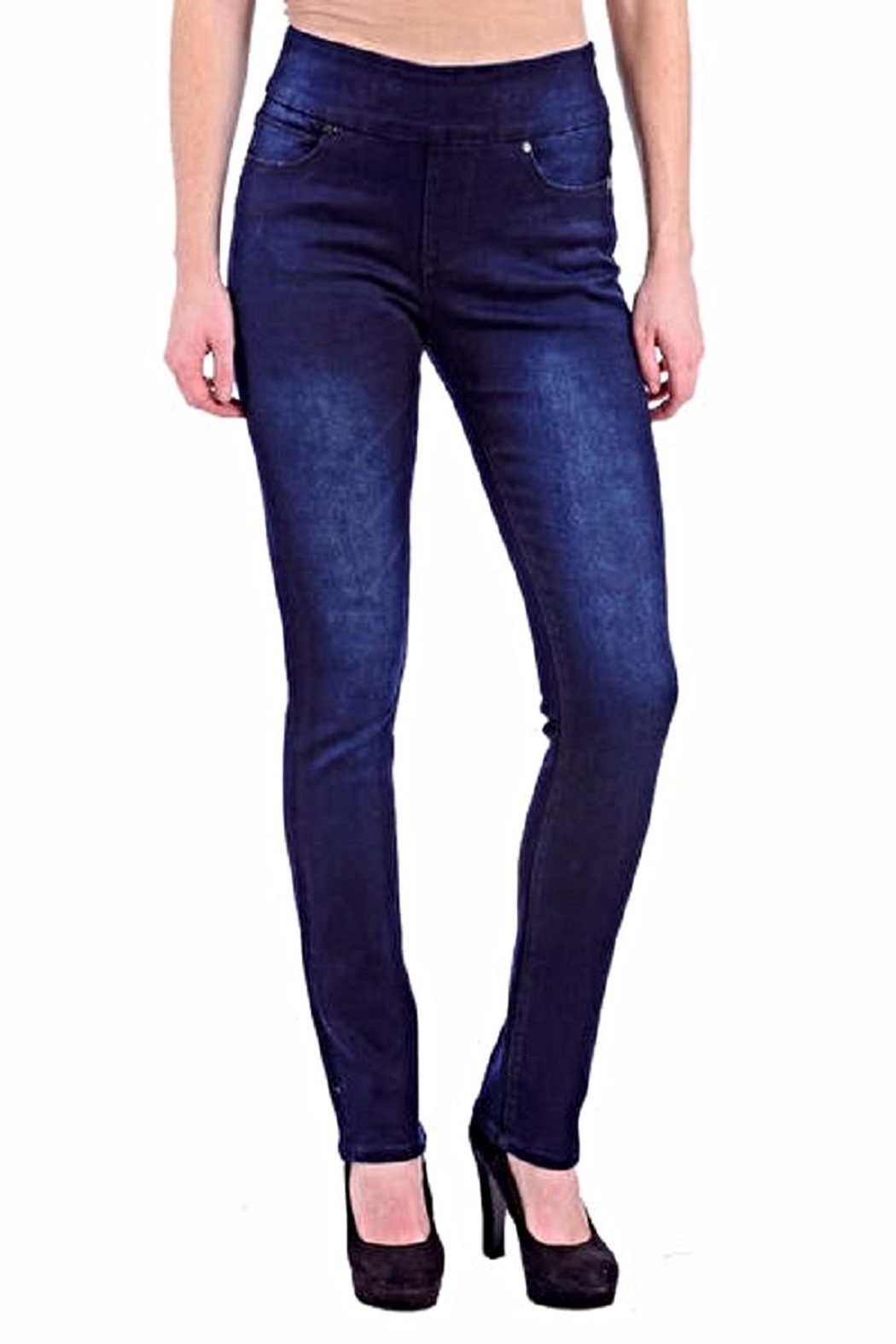 Lola Jeans Rebeccah Pull-On Straight - Front Cropped Image