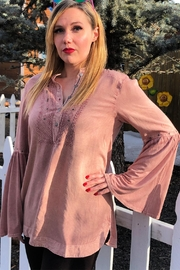 Lola P. Bell-Sleeve Empire Tunic - Front cropped