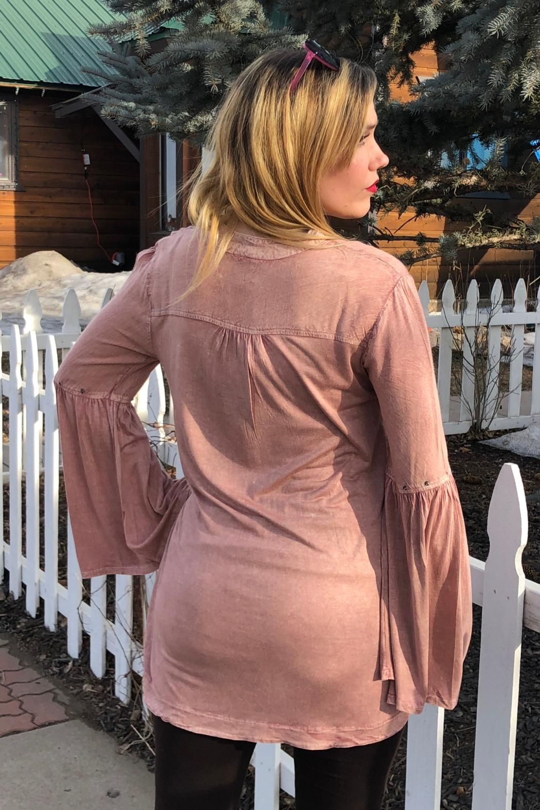 Lola P. Bell-Sleeve Empire Tunic - Front Full Image