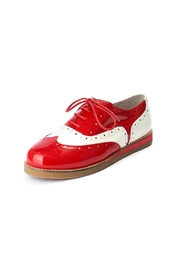 Lola Ramona Cecilia Wingtip Red Shoes - Front cropped