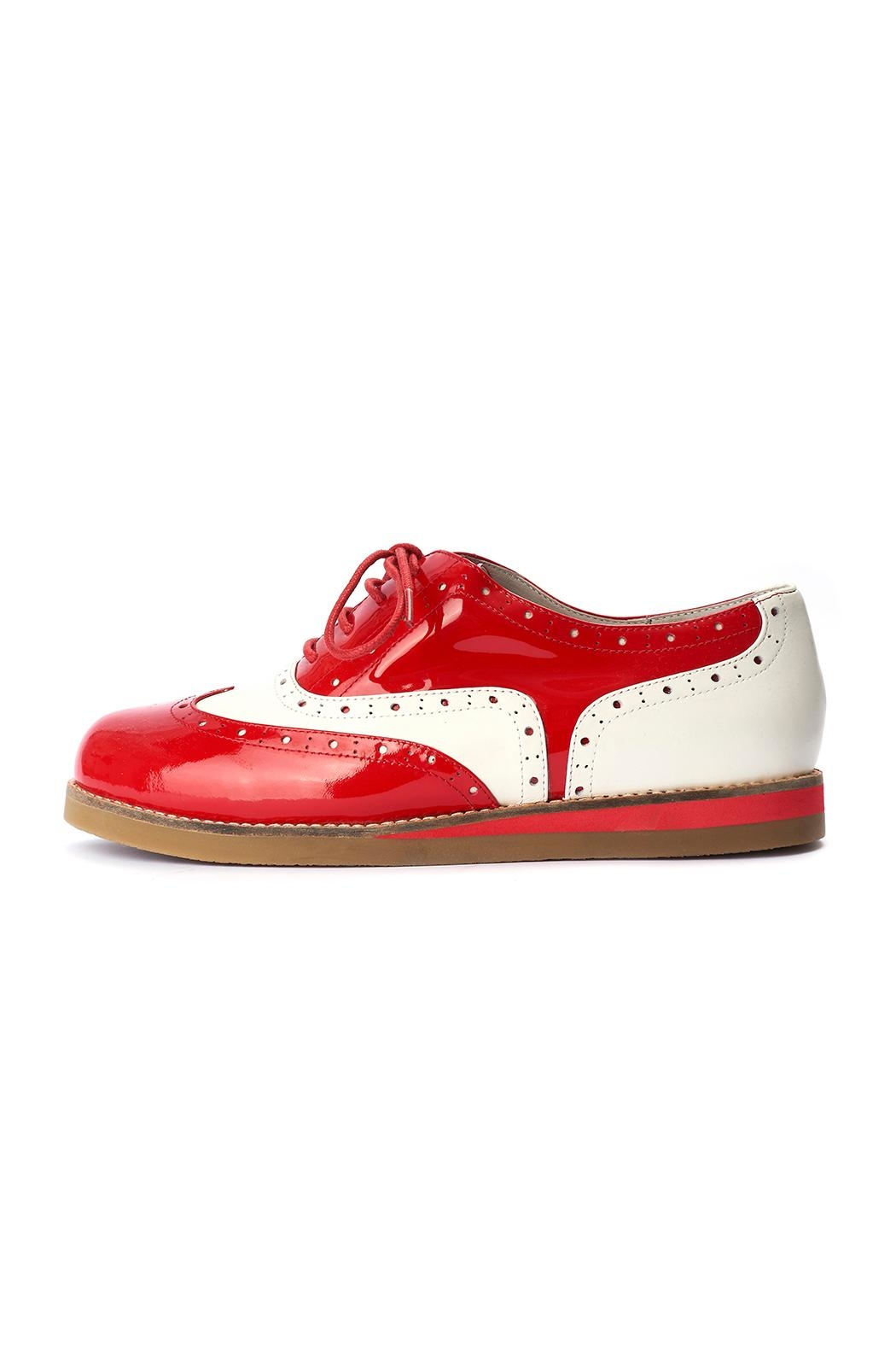 Lola Ramona Cecilia Wingtip Red Shoes - Front Full Image