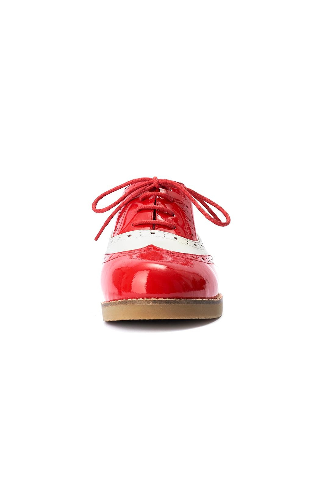Lola Ramona Cecilia Wingtip Red Shoes - Side Cropped Image
