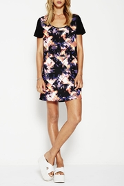 Lola vs Harper Palm Print Dress - Front cropped