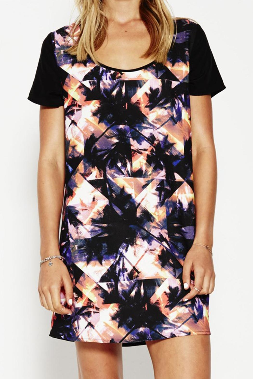 Lola vs Harper Palm Print Dress - Side Cropped Image