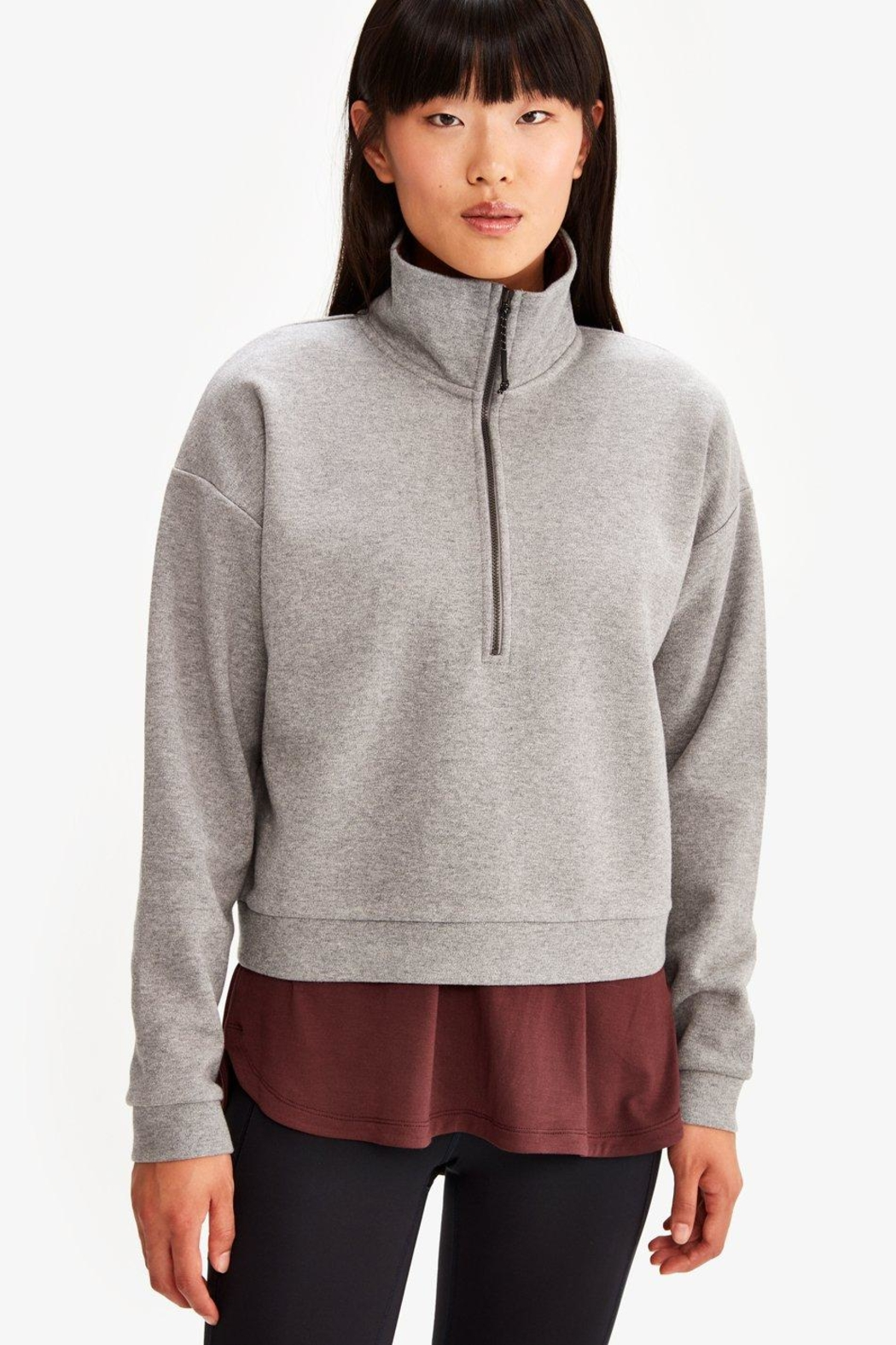 Lole Cropped Zip Pullover - Side Cropped Image