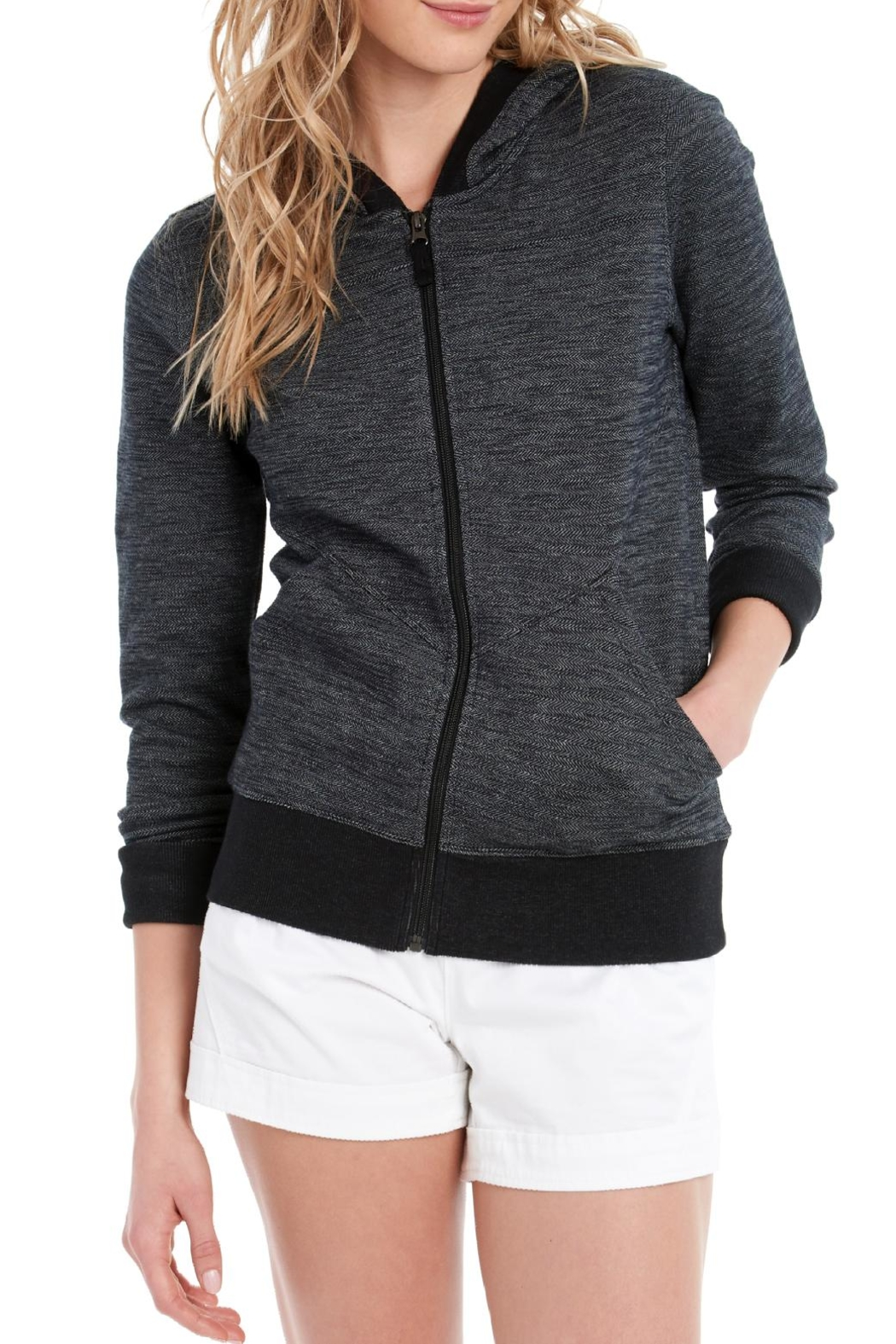 Lole India Hooded Cardigan - Front Cropped Image