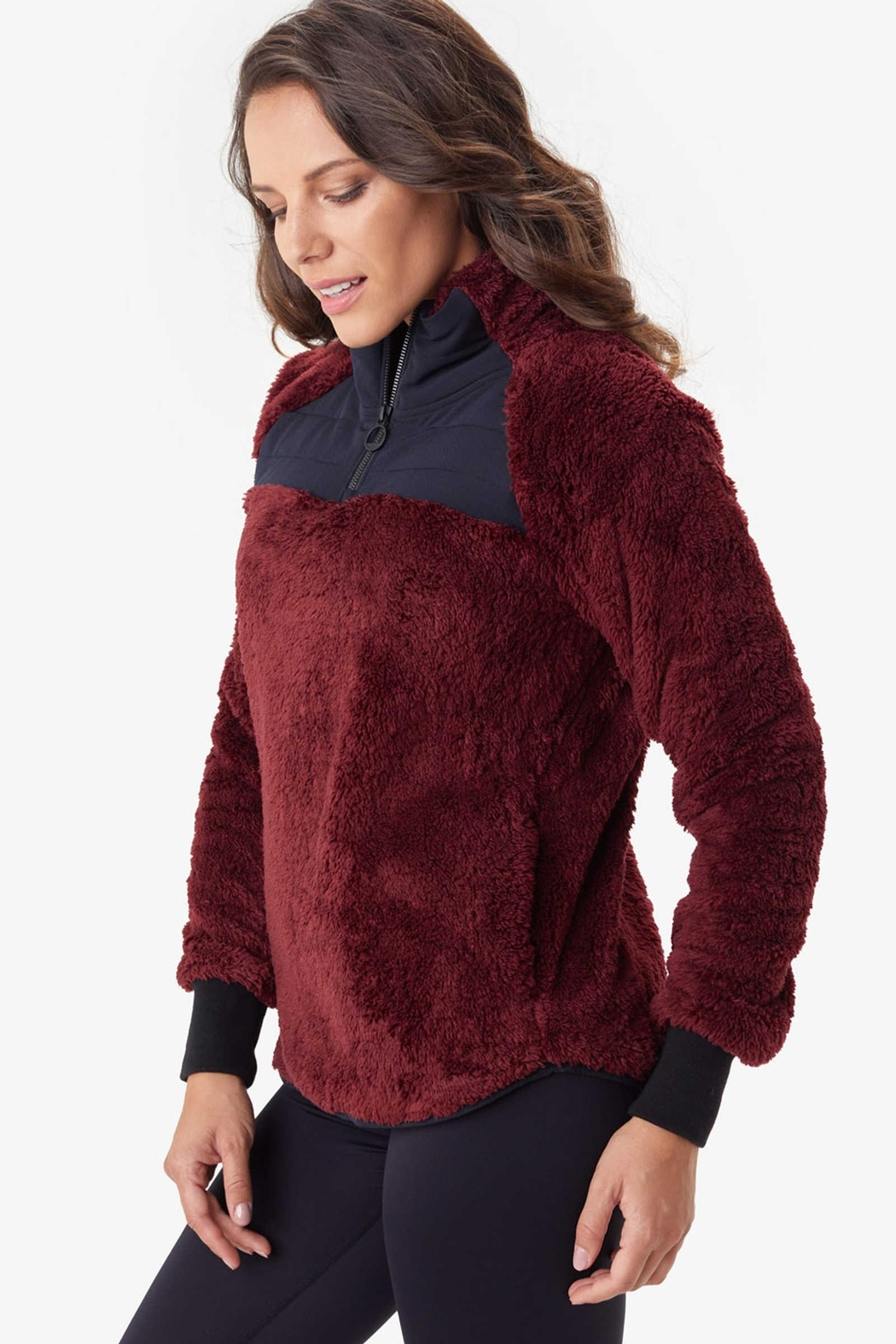 Lole Yana Sherpa Zip Pullover - Front Cropped Image
