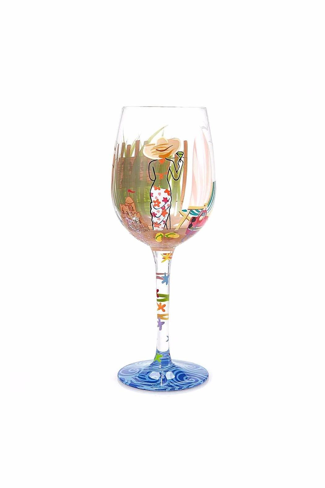 Lolita Beach Girl Wine Glass - Front Full Image