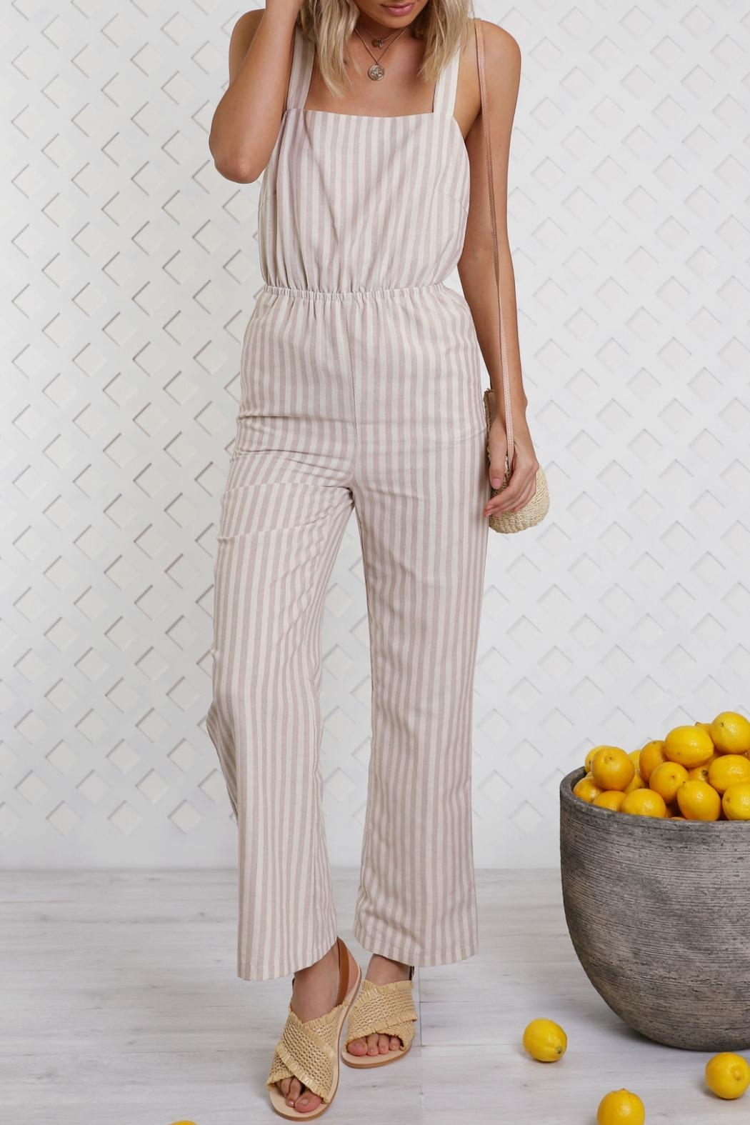 Lost in Lunar Lolita Pantsuit - Front Cropped Image