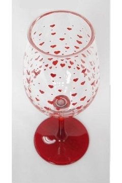 Lolita Red Hot Acrylic Wine Glass - Product List Image