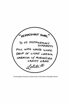 Lolita Bling Peppermint Wine Glass - Alternate List Image