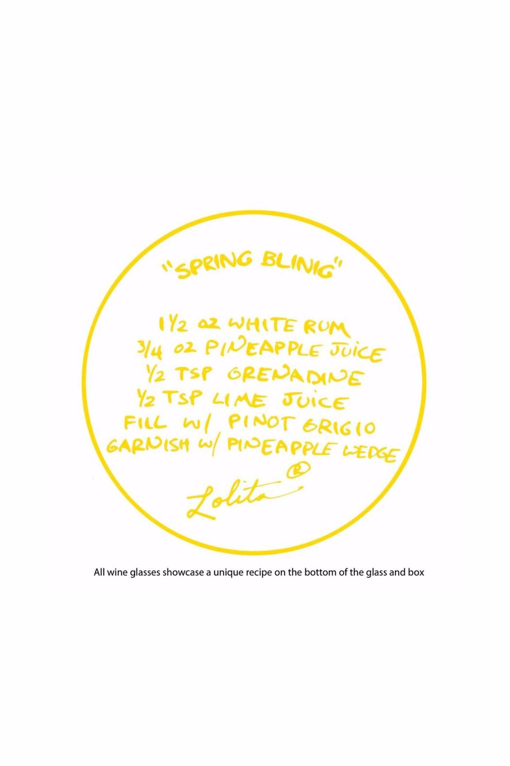 Lolita Spring Wine Glass - Side Cropped Image